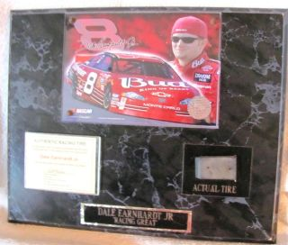 Dale Earnhardt Jr Authentic Racing Tire and Picture Plaque 8