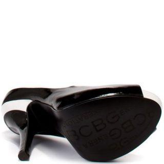 BCBG Liberty Shoe Beautiful Black and White Patent