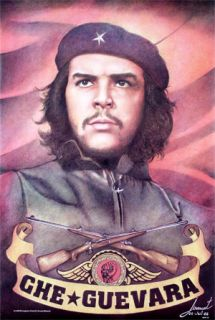 Che Guevara Hat Pencil Drawing Unique Hand Poster Mint