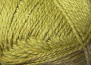 Natural Hemp Wool Yarn Curry Yellow 4 oz Skeins
