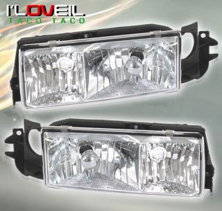 1991 1996 Chevy Caprice Impala Euro Chrome Headlights Clear Turn