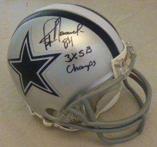 Jay Novacek Autographed Signed Dallas Cowboys Mini Helmet w 3X Champs