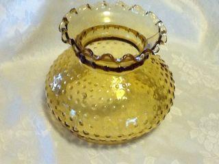 Vintage Fenton Hobnail Dark Amber Hurricane Glass Globe Replacement