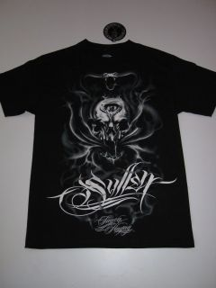 Strike Cobra Skull Sullen Black Shirt Tee Tattoo SS Short Sleeve