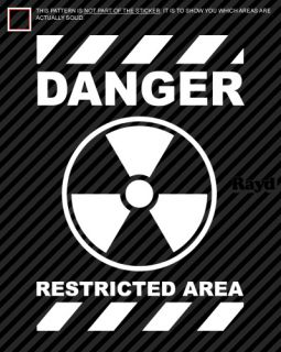 danger restricted area die cut decal this listing includes one decal