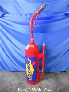 NASCAR Sunoco Race Used Fuel Can Dump Can Sheetmetal Travis Kvapil