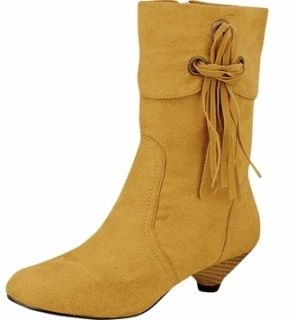 Ladies Tan Suede Boots by Damita K Los Angeles Sizes 7 11