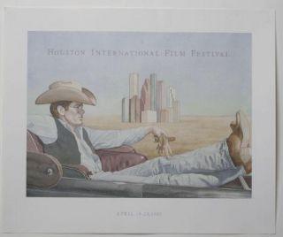 James Dean Houston Film Fest 1985 Poster Giant Movie