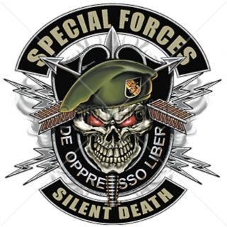 Silent Death T Shirt Military Skull de Oppresso Liber Wild Tee