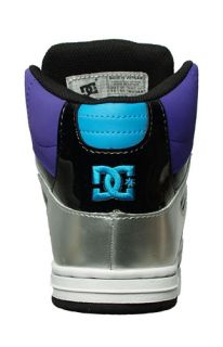 DC Shoes Womens Sneakers Rebound Hi Black White Velevet Purple 302164