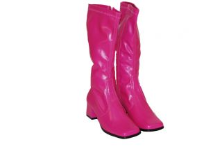 Women Girls Fashion Fushia Low Heels Boots Knee High Shoes Boot