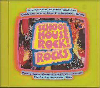 Schoolhouse Rock Rocks CD 1996 Daniel Johnston Pavement Ween Man or