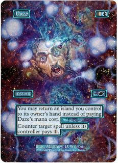 Foil Altered Art Psychedelic Daze Nemesis Magic The Gathering Free