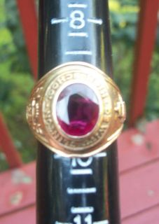 10KT Gold de Witt Clinton High School Class Ring with Ruby