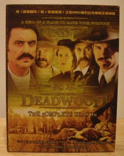 Deadwood Complete Season Series 19 Disc DVD Box Set Seasons 1 2 3 Like