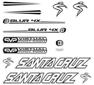 Pegatinas Cuadro Santa Cruz Blur 4X Bike Stickers Kit