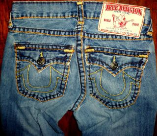 Mens True Religion Joey Super T twisted thick stitch jeans size 30x30