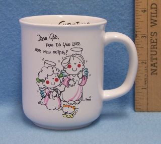 Dear God Kids Enesco Merry Christmas Coffee Mug Cup Angels New Outfits