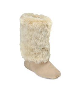 DEARFOAMS Women Faux Fur Boots