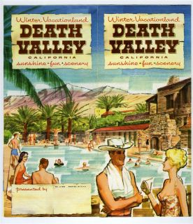 1959 Death Valley California Tourism Brochure Furnace Creek Inn Ranch
