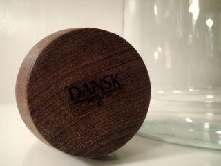 Dansk Designs Gunner Cyren Glass Decanter Teak Stopper Price REDUCED