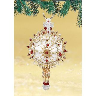 Claire de Rouge Beads Sequin Christmas Ornament Satin Ball NEW