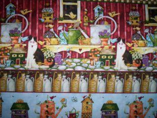 yds x 44 Home Sweet Home by Debi Hron for SPx Fabrics Birdhouses