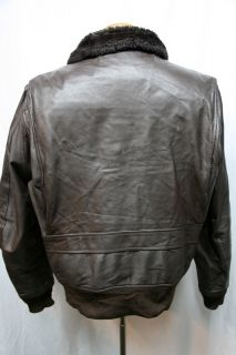 Vintage Cooper USN G 1 Goatskin Leather Flight Bomber Coat Jacket USA