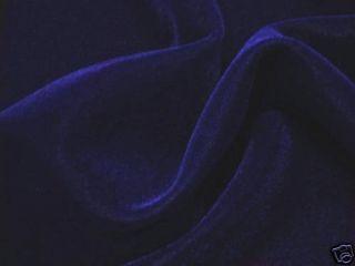 Dark Navy Blue Velvet Fabric 45 3 Yds