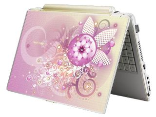 Bundle Monster Mini Netbook Laptop Notebook Skin Decal Pink Chaos
