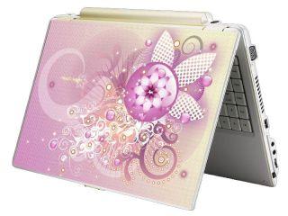 Bundle Monster Mini Netbook Laptop Notebook Skin Decal Pink Chaos