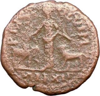 Trajan Decius 251AD Ancient Roman Coin Viminacium Moesia Legions Bull