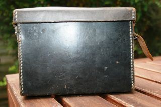 WW2 GERMAN ARMY BLACK LEATHER CASE SUPER MADE IN BERLIN 1940, VGC FOR