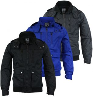 Jones Sagitar Mens Designer Jacket in Black Blue or Dark Grey