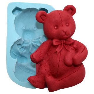 2D Baby Bear Silicone Molds Decorating Fondant Gumpaste Supply M4907