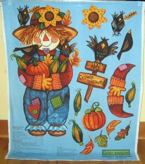 Daisy Kingdom Harvest Scarecrow Fabric Panel