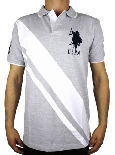 New U s Polo Assn USPA Mens Classic Striped Cotton Big Pony Polo T