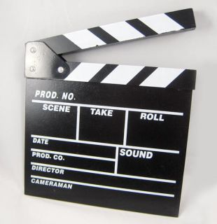 TV Clapboard Hollywood Directors Board Clapper Cool Items 1pcs