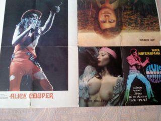 Greek 70s Alice Cooper Huge Poster Presley Joe Dassin Mallet