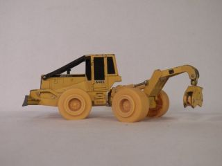 Vintage Ertl Yellow 648G John Deere Log Skidder Construction Truck