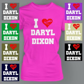 Heart Daryl Dixon Crossbow Funny Zombie Walking Dead The Ladies T