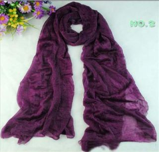 New Fashion Lady Wild Candy Colored Scarf Scarves Deep Purples