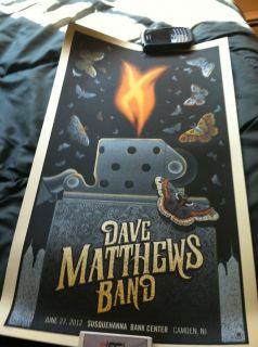Dave Matthews Band 6 27 2012 Camden NJ N2 Poster DMB Lighter Fire