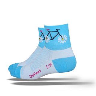 DeFeet Womens Socks Petal Power Blue AirEator 1P
