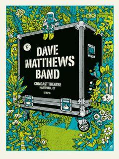 Dave Matthews Band Poster 2010 Hartford Ct N1 550