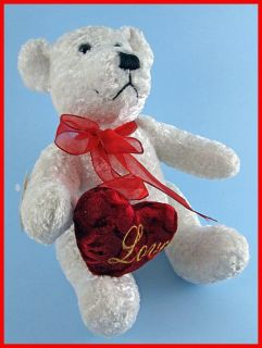 10 Dan Dee Plush Teddy Bear Stuffed Toy Animal w Ribbon Red Love