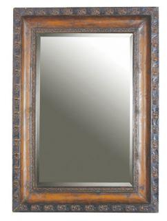 Rectangle Embossed Mahogany Glaze Uttermost Wall Mirror