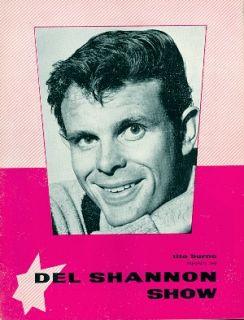 DEL SHANNON / GERRY & THE PACEMAKERS 1963 U.K. TOUR CONCERT PROGRAM