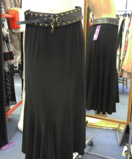 Joseph Ribkoff 10 BNWT Gothic Black Jersey Skirt Belt