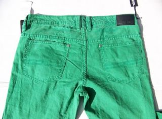 Buffalo Evan super slim Kelly Green jeans by David Bitton. Size 36